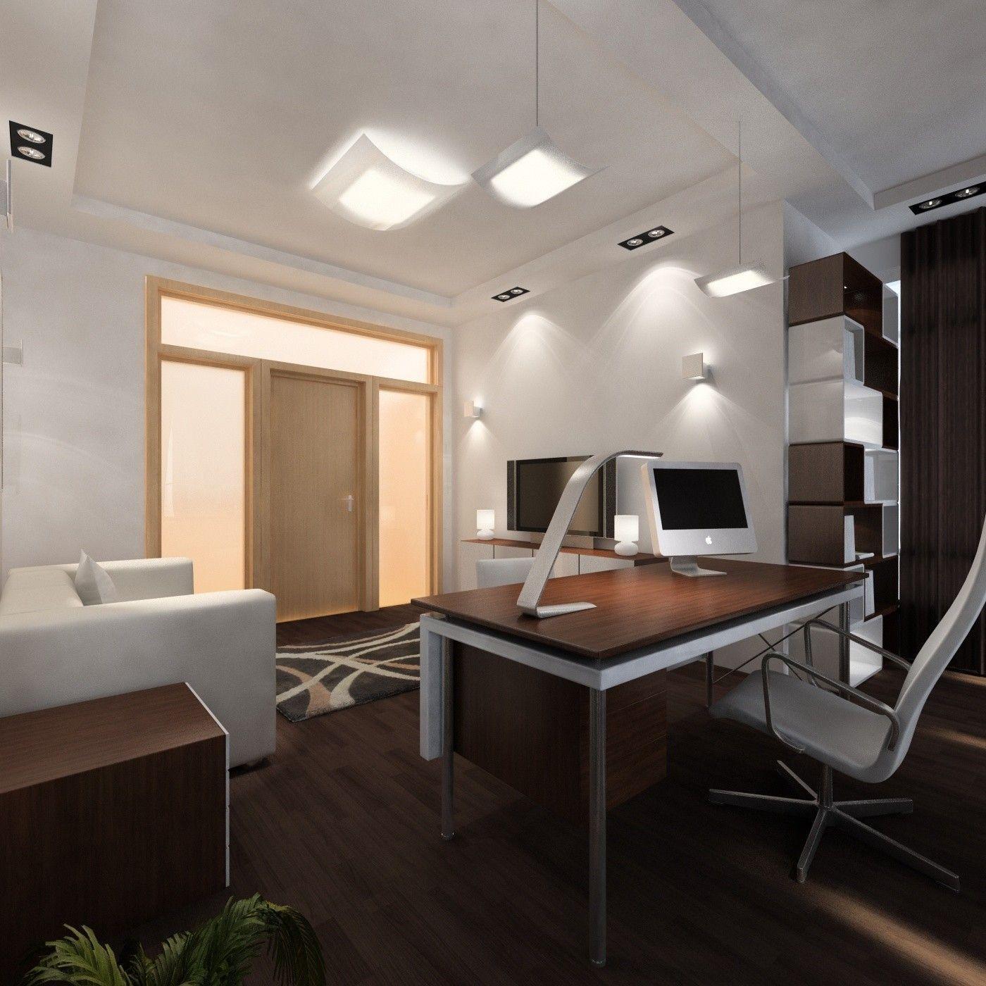 Интерьер комнаты в современном стиле в коричневых тонах