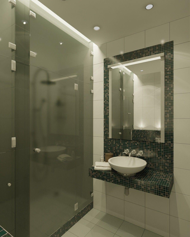 Интерьер душевой комнаты в современном стиле