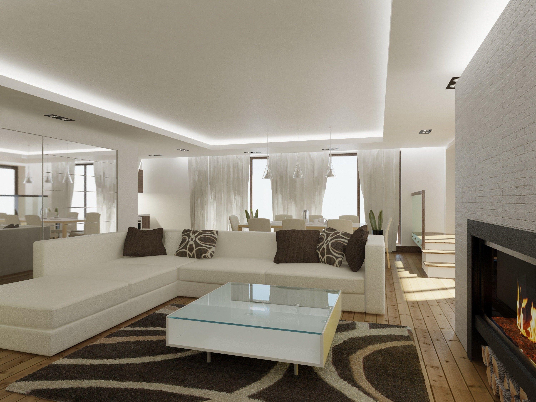 Интерьер гостиной зоны в квартире