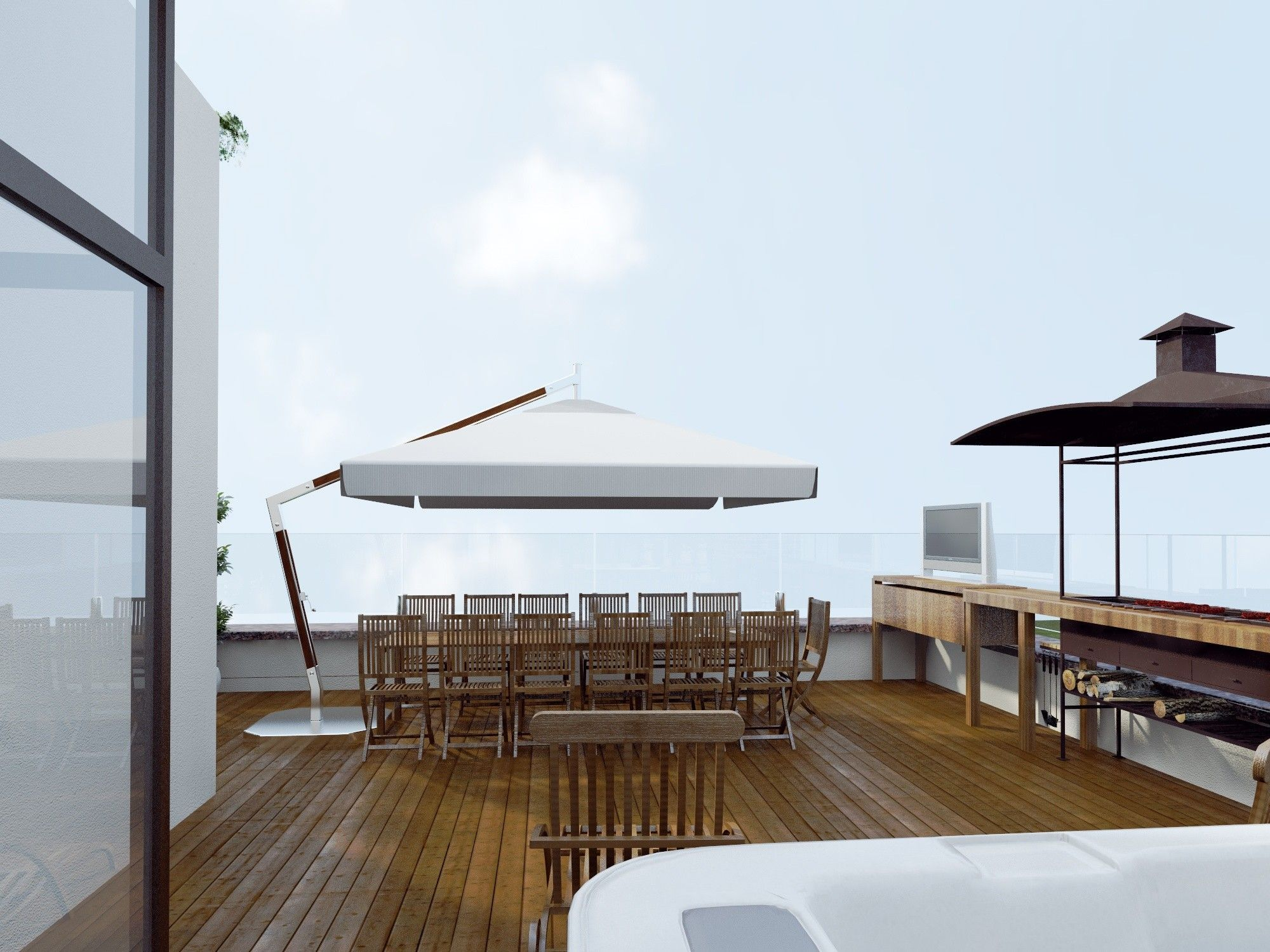 Дизайн проект террасы на крыше