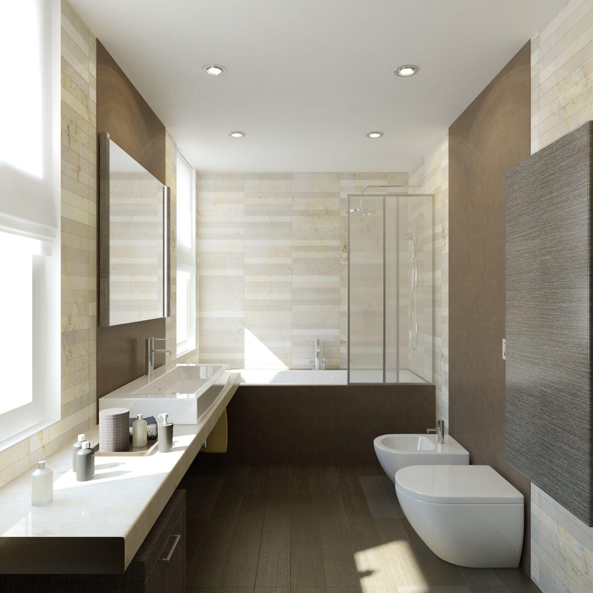 Дизайн - проект ванной комнаты