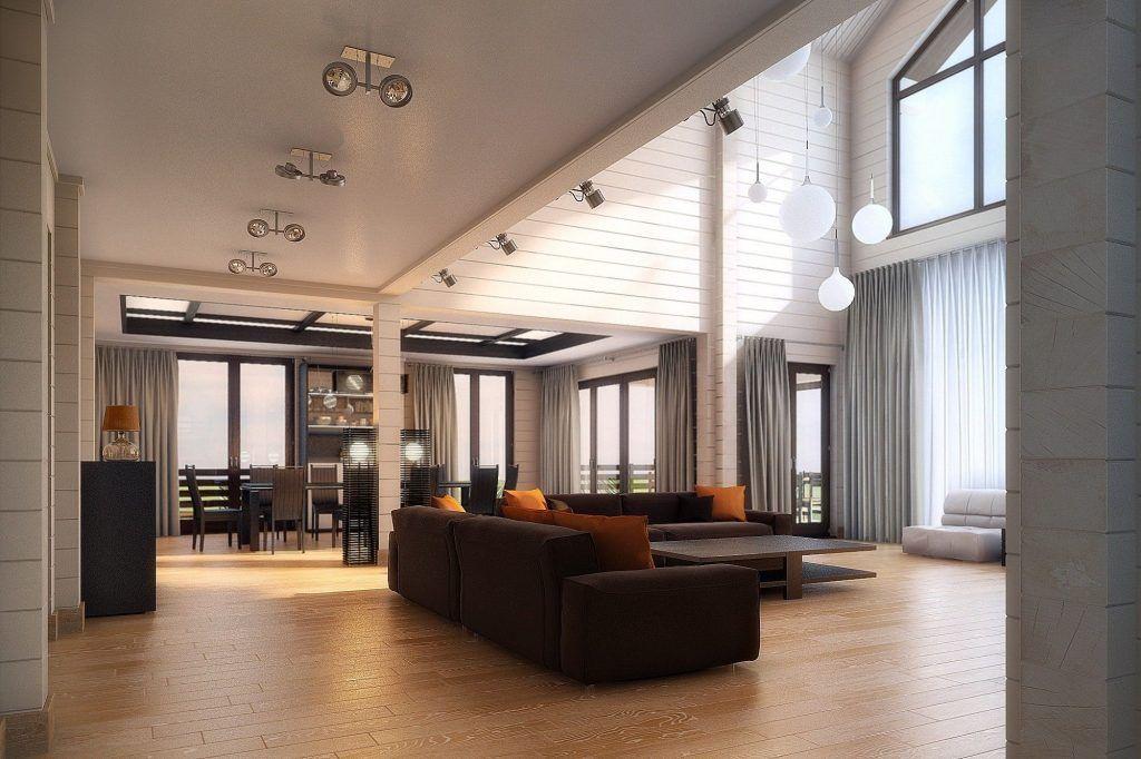 интерьер частного дома гостиная