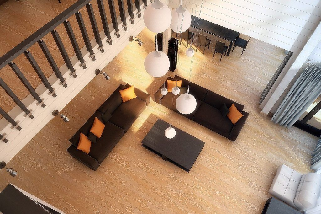 интерьер частного дома столовая