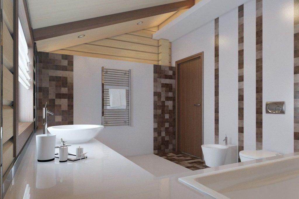 интерьер двухэтажного частного дома ванная