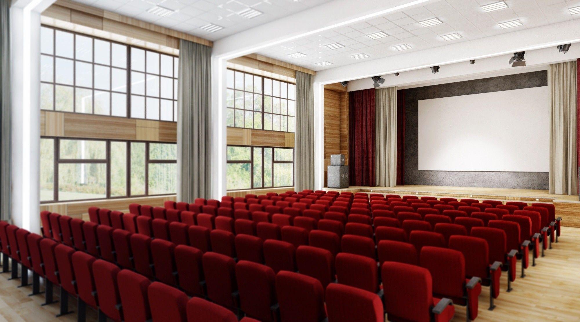Дизайн актового зала в школе
