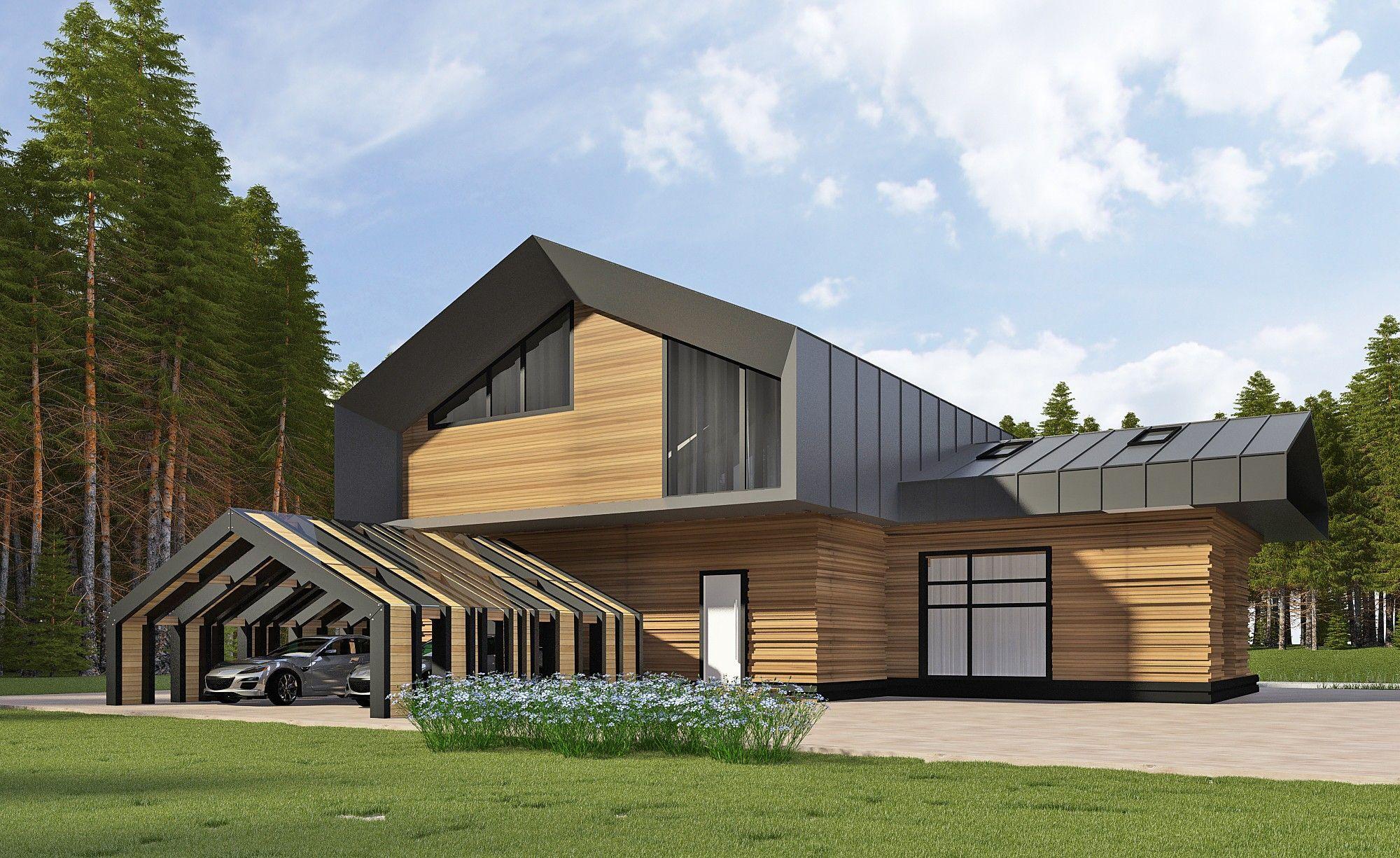 Архитектурный проект дома из дерева