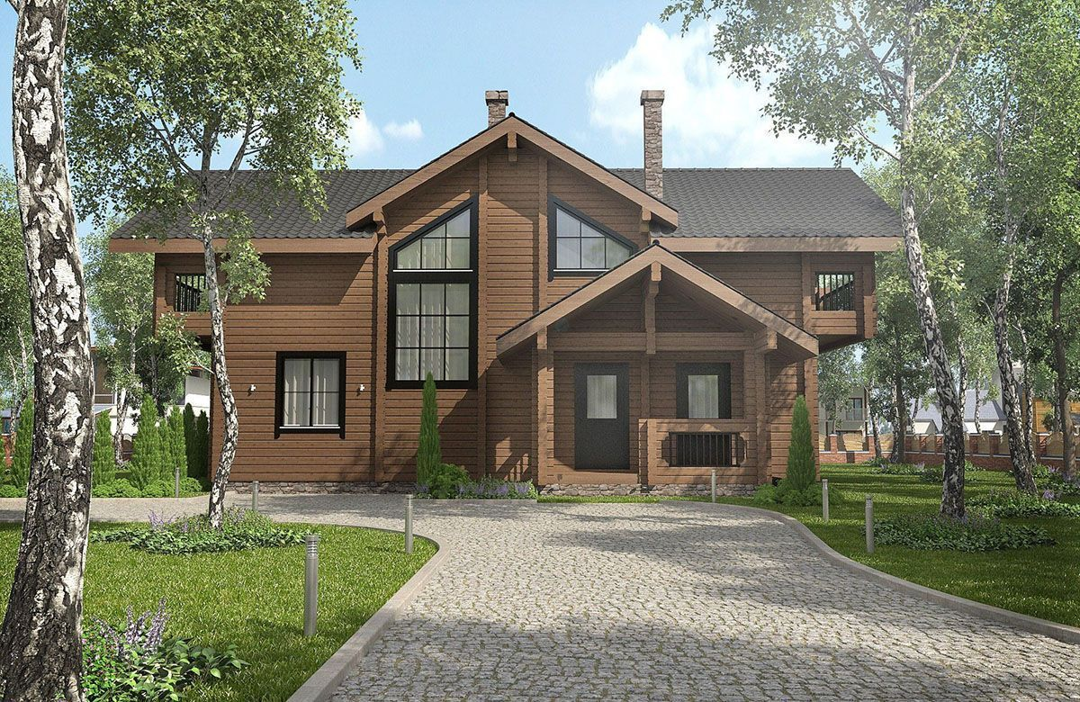 Архитектурный проект дома - особняка: фото