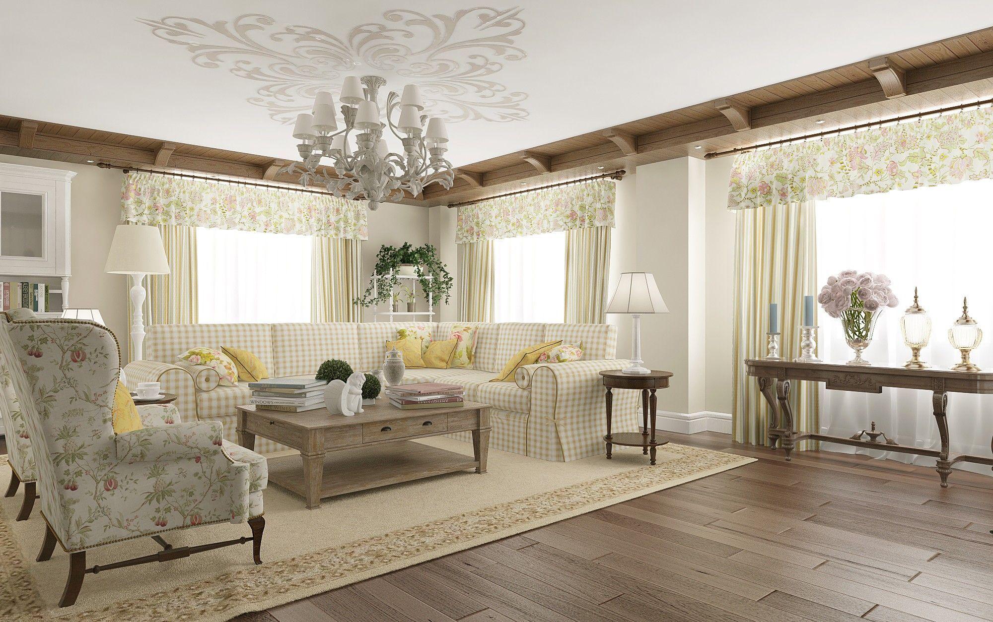 Гостиная в классическом стиле - фото