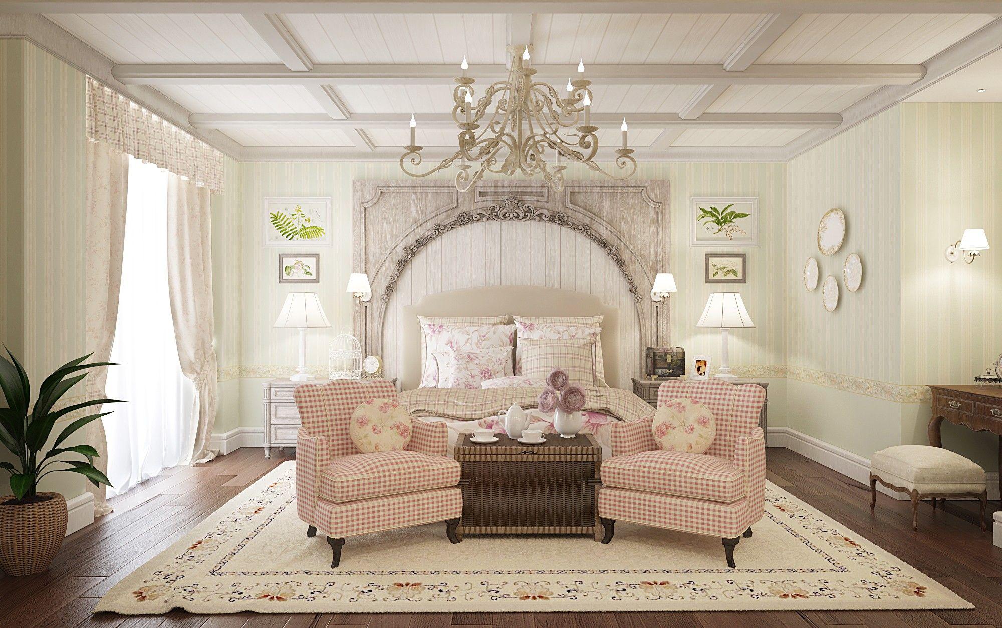 Спальня в классическом стиле - дизайн проект