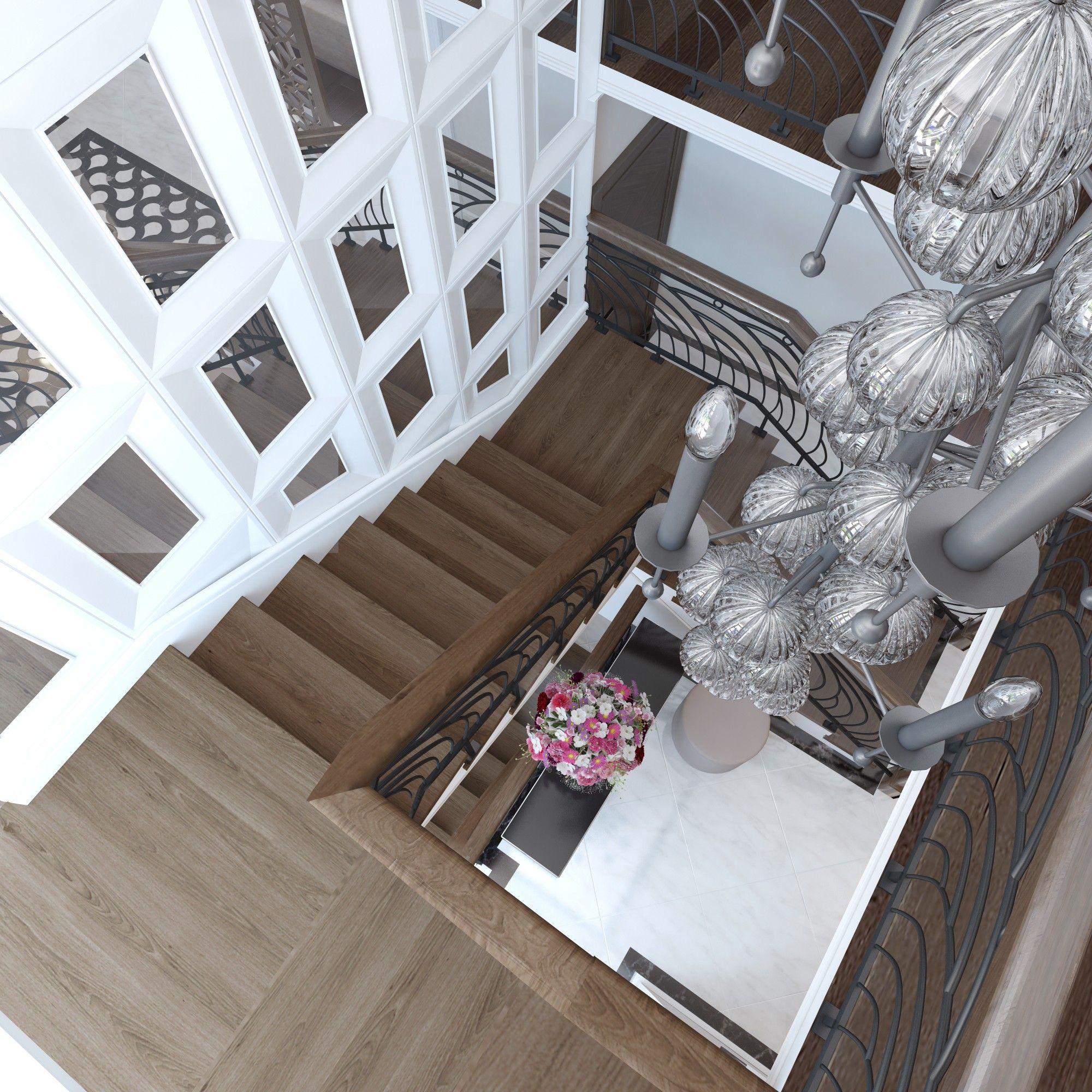 Лестница. Дизайн интерьера дома.