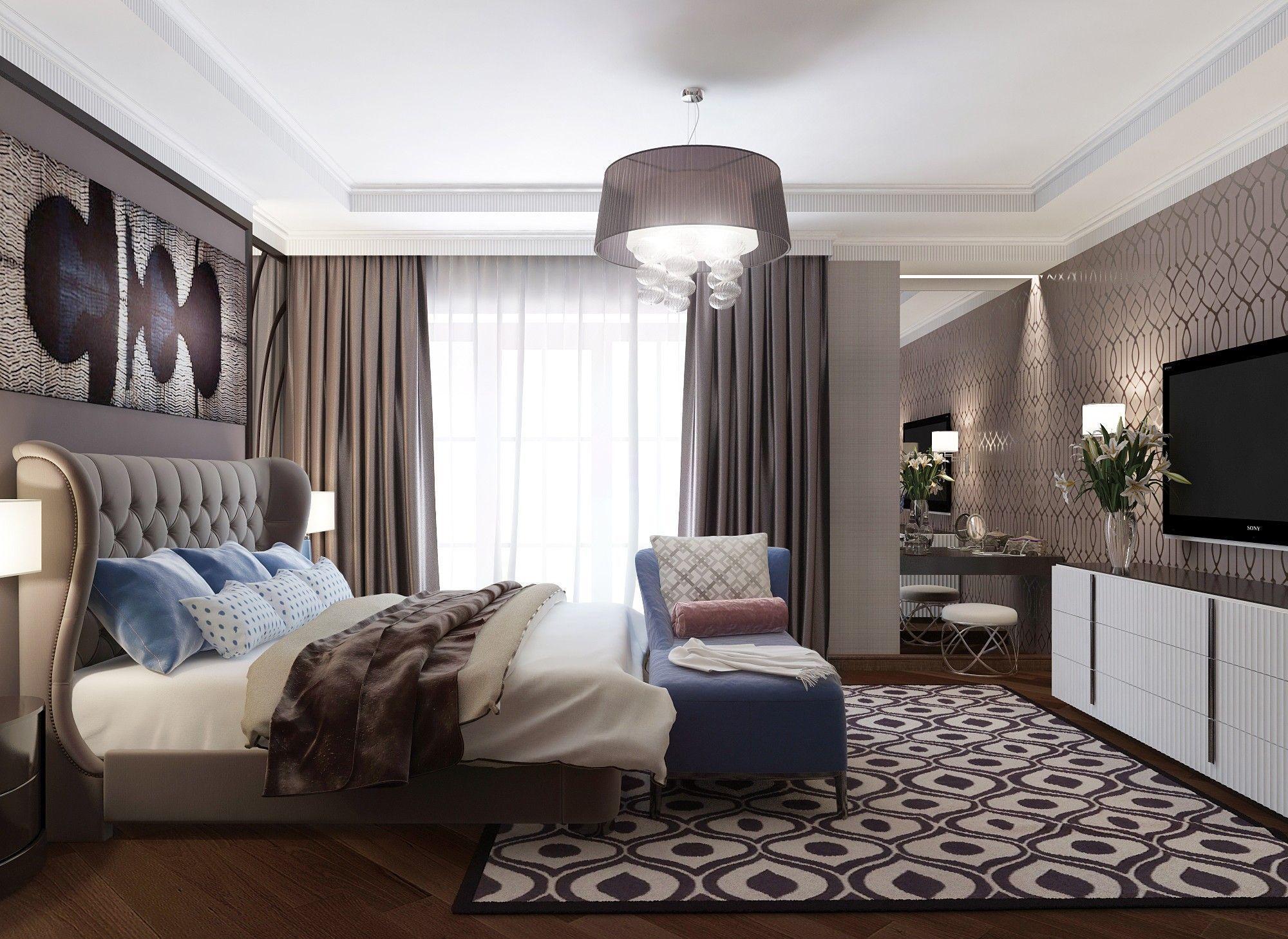 Спальня.  Дизайн интерьера дома.
