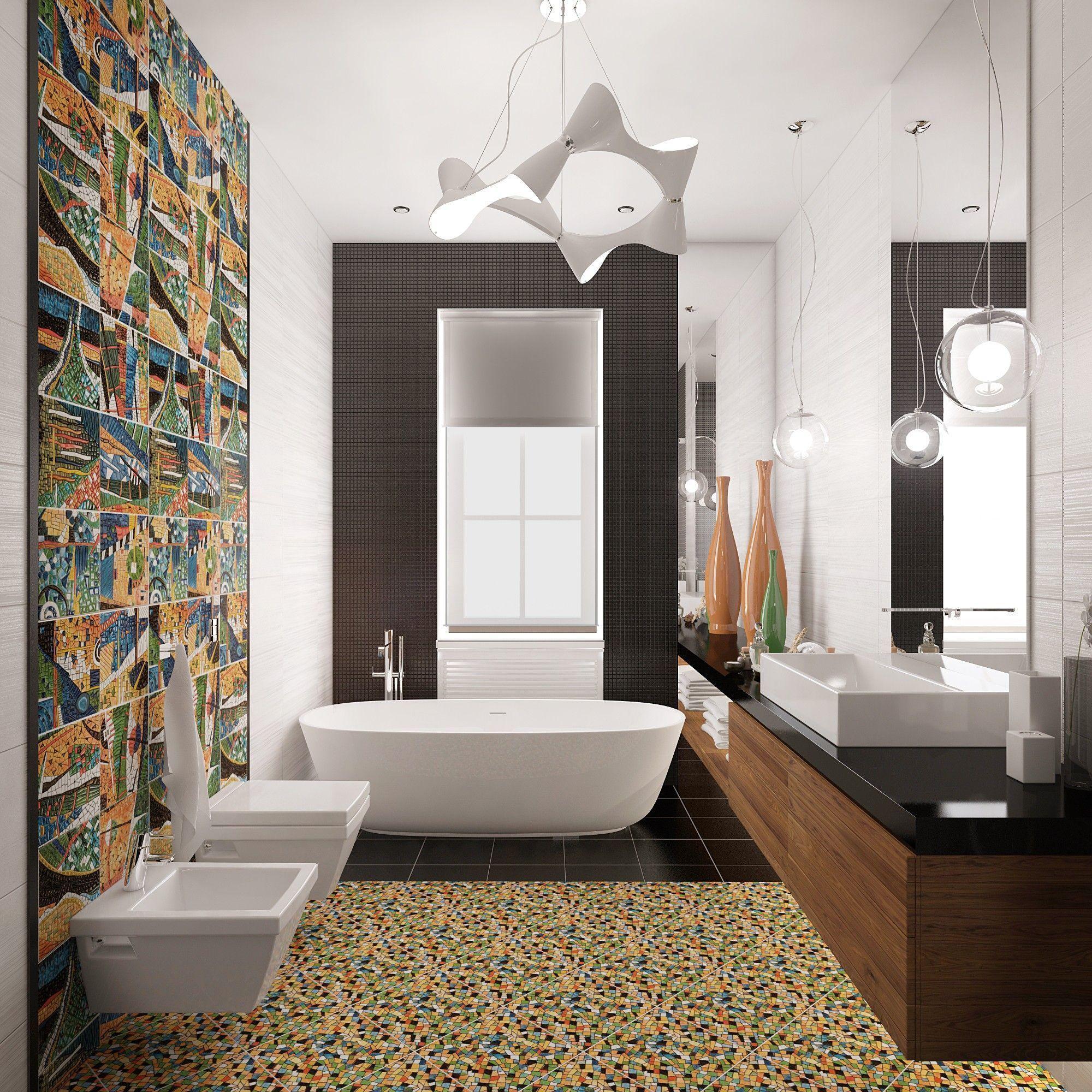 Санузел. Дизайн интерьера дома.