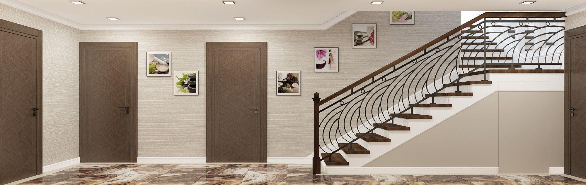 Холл подвального этажа. Дизайн интерьера дома.