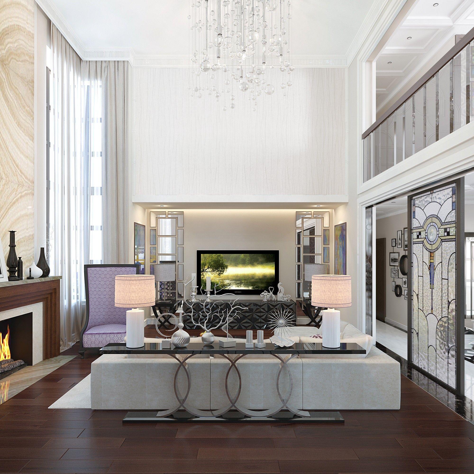 Гостиная. Дизайн интерьера дома.