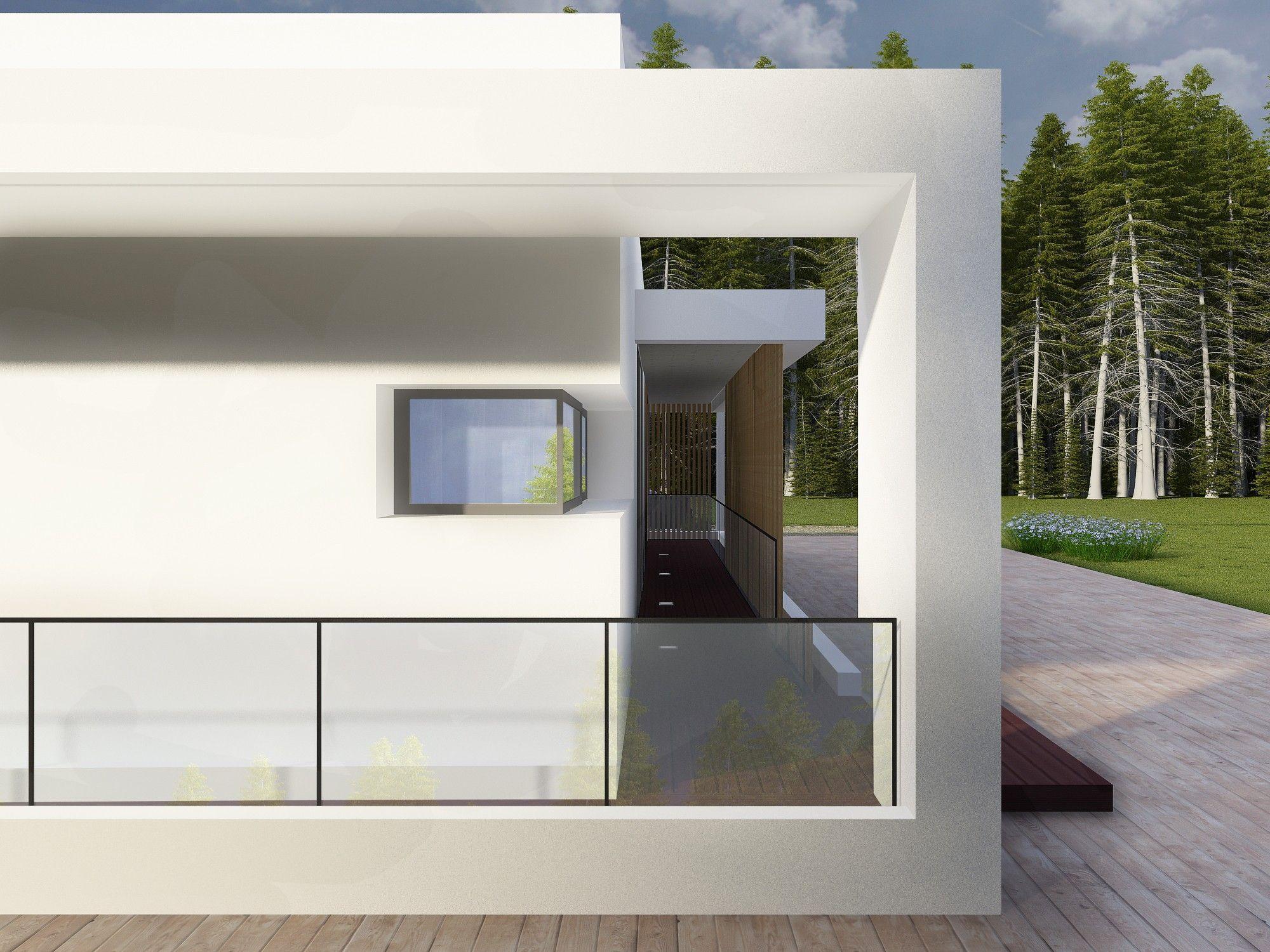 Архитектурный проект дома в стиле конструктивизма
