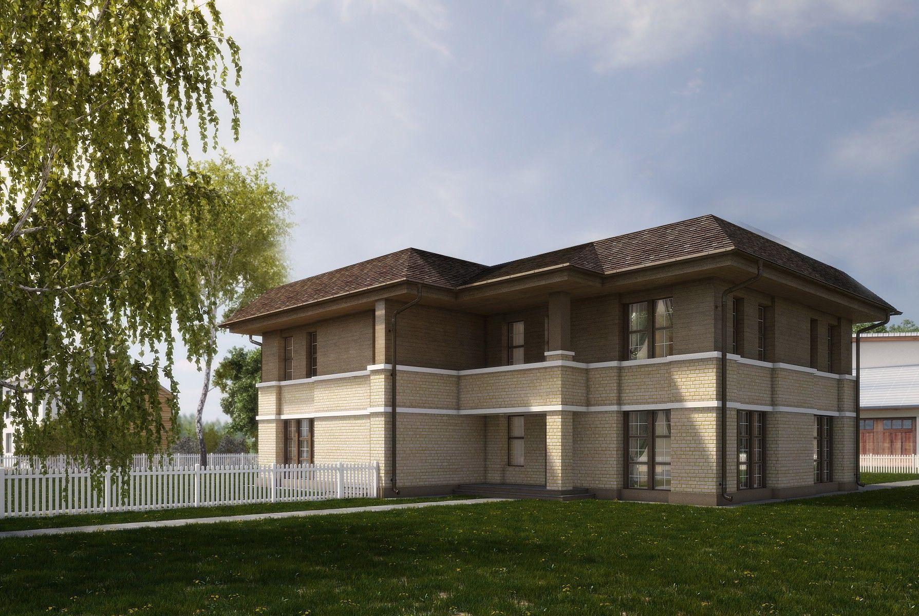 Проект дома дуплекса на две семьи