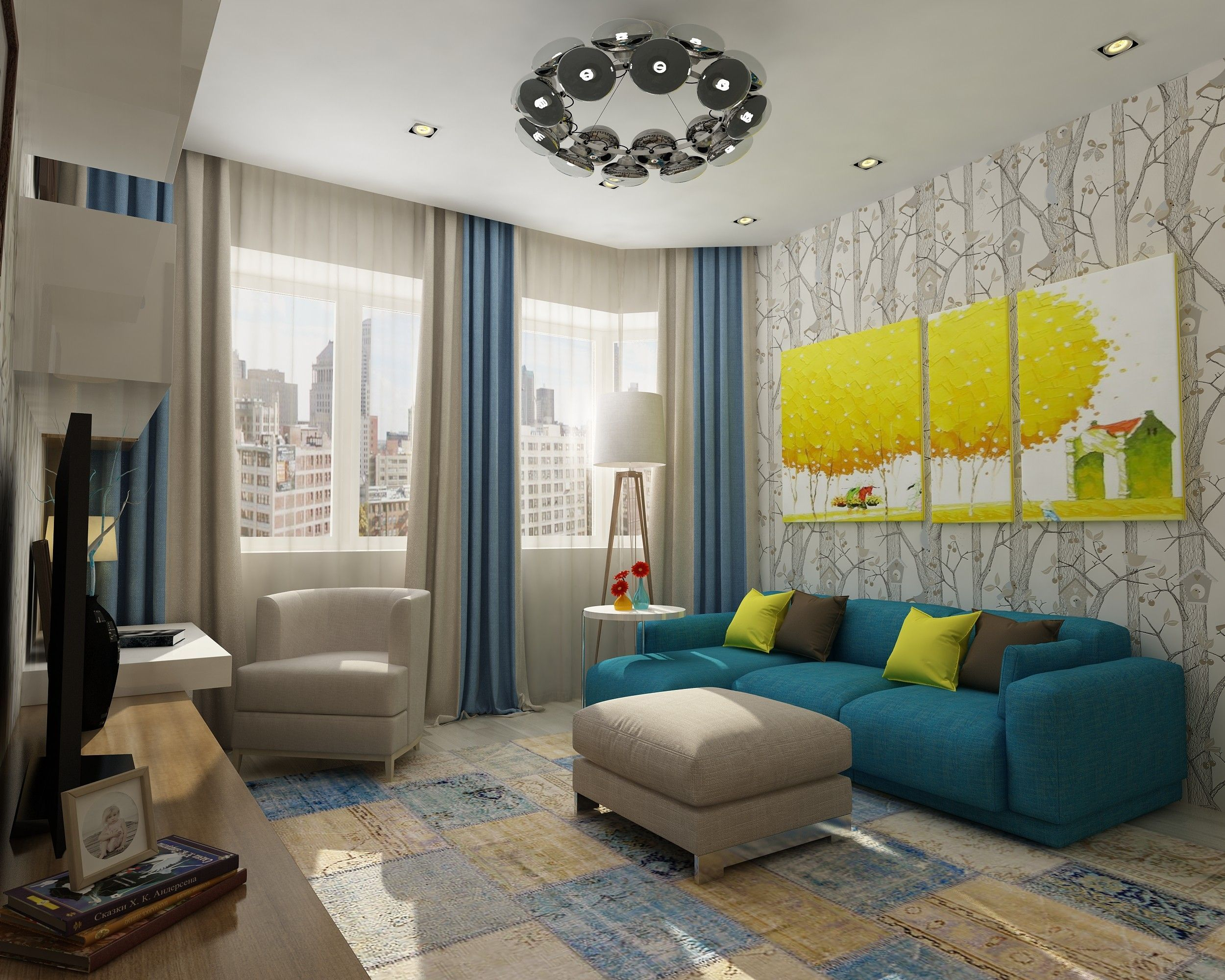 Гостевая комната: проект интерьера - фото