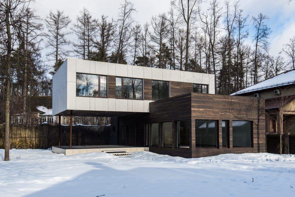Проект домов в стиле модерн