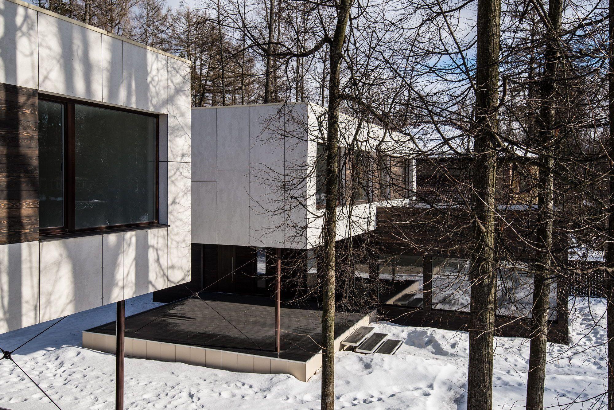 Проект дома в стиле минимализма