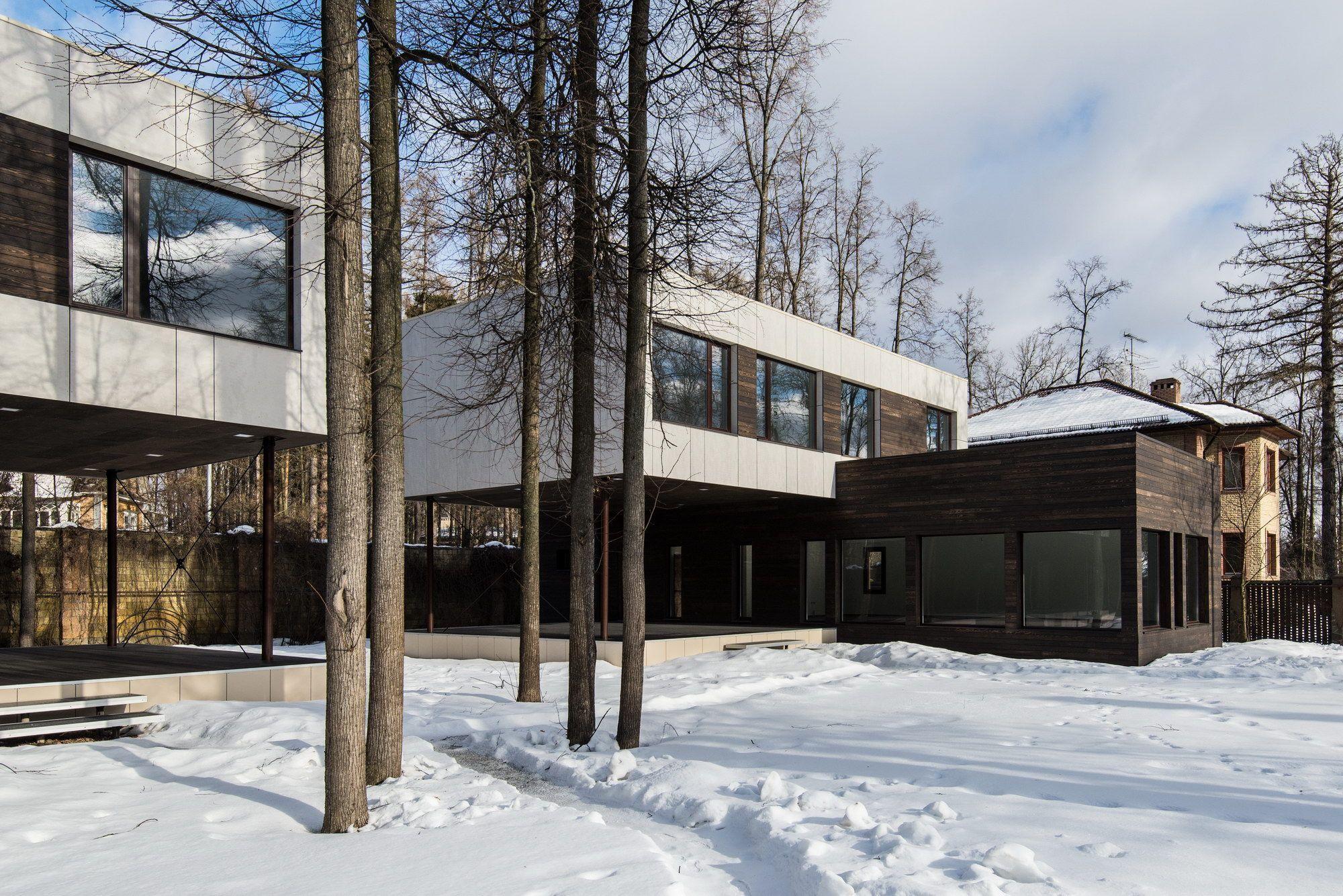Проект загородного дома в стиле минимализм