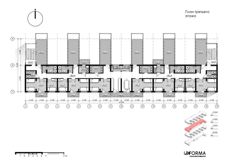 Архитектурный план общежития фото