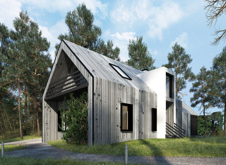 дизайн - проект частного дома за городом