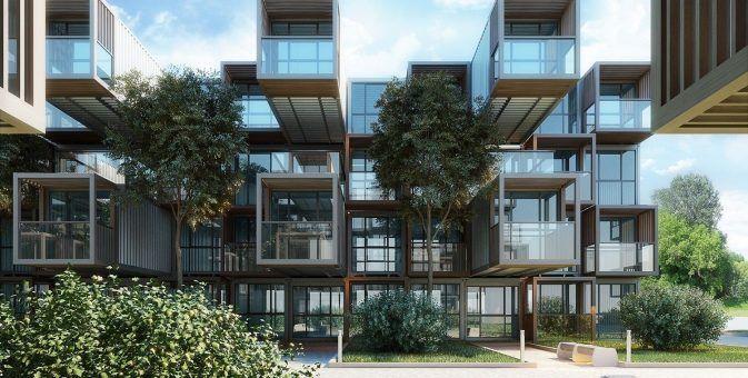 Архитектурный план здания общежития