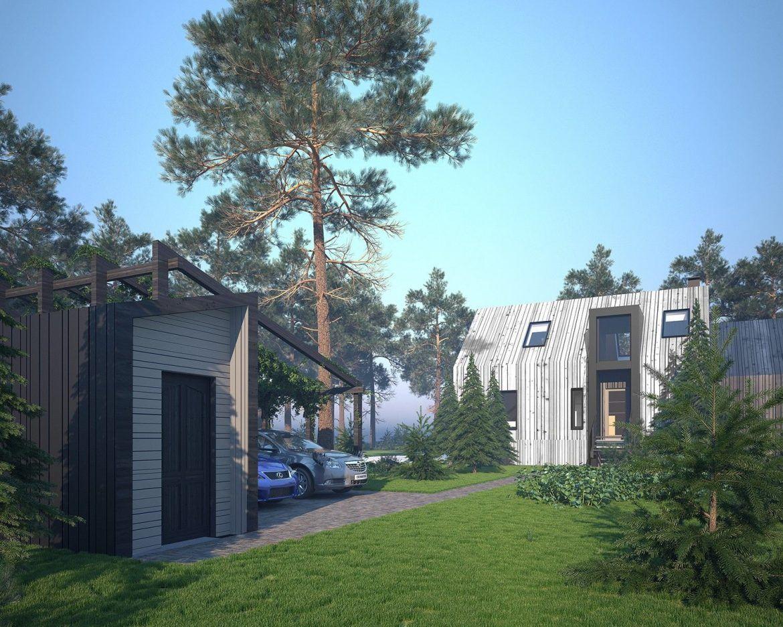 Архитектурный проект деревянного дома