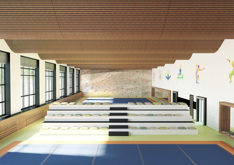 Дизайн проект актового зала в школе и ДК