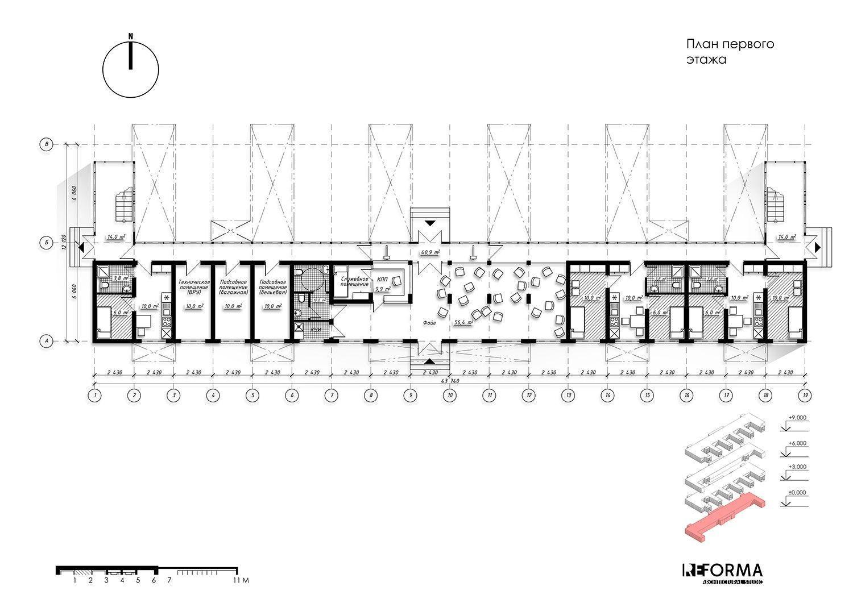 Общежитие для сотрудников: проект