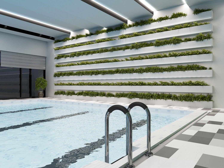 Реконструкция здания с бассейном фото