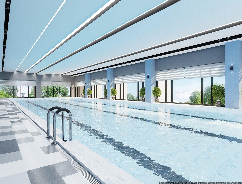 дизайн - проект бассейна в спортивном центре