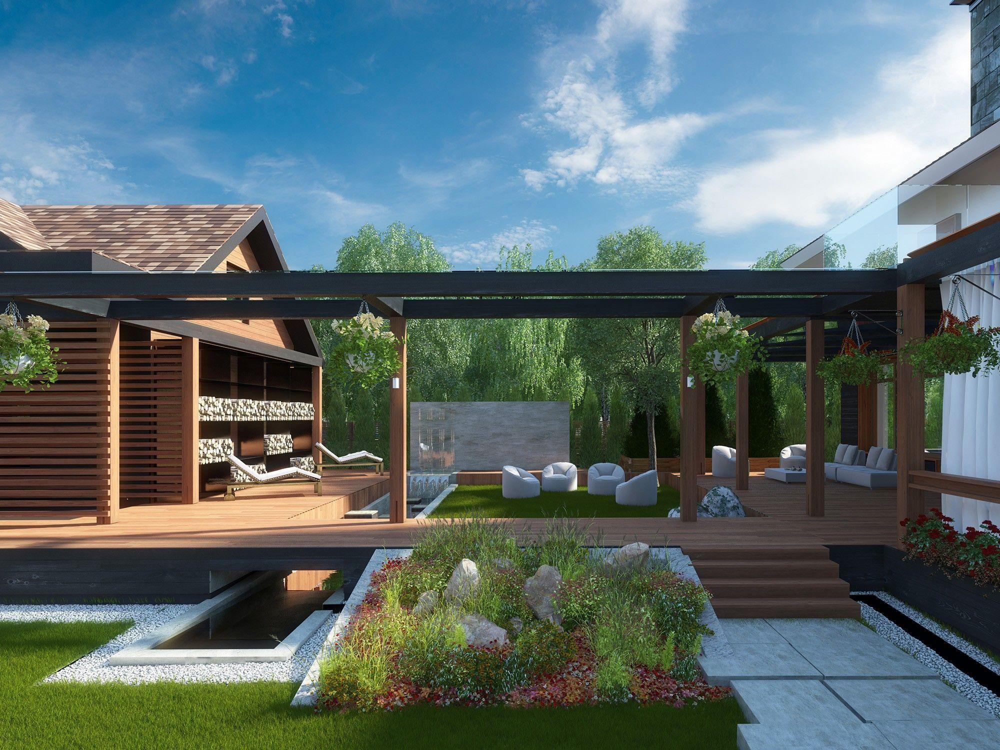 Архитектурный проект дома с благоустройством территории
