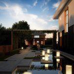 Архитектурный проект загородного дома с бассейном