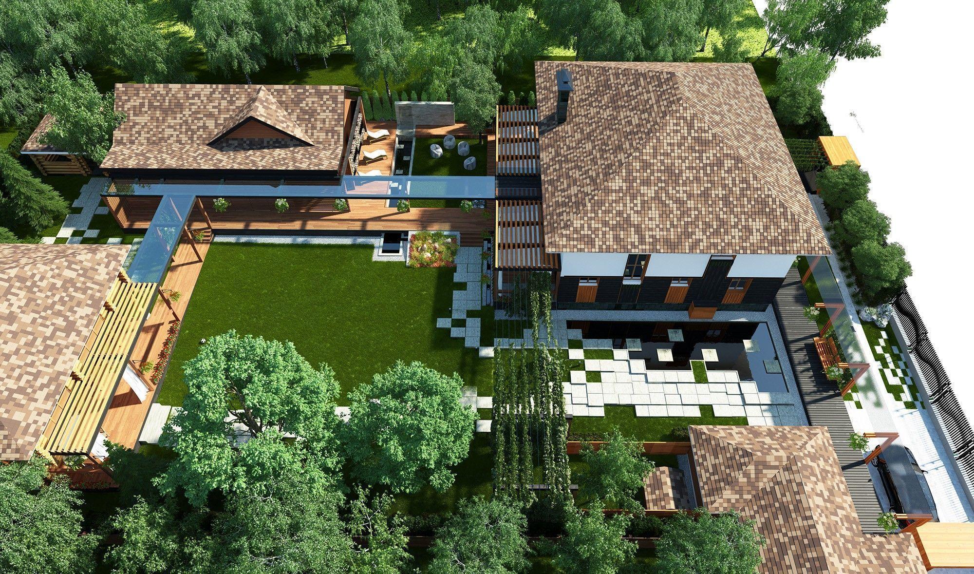 Благоустройство дома: проект архитектуры