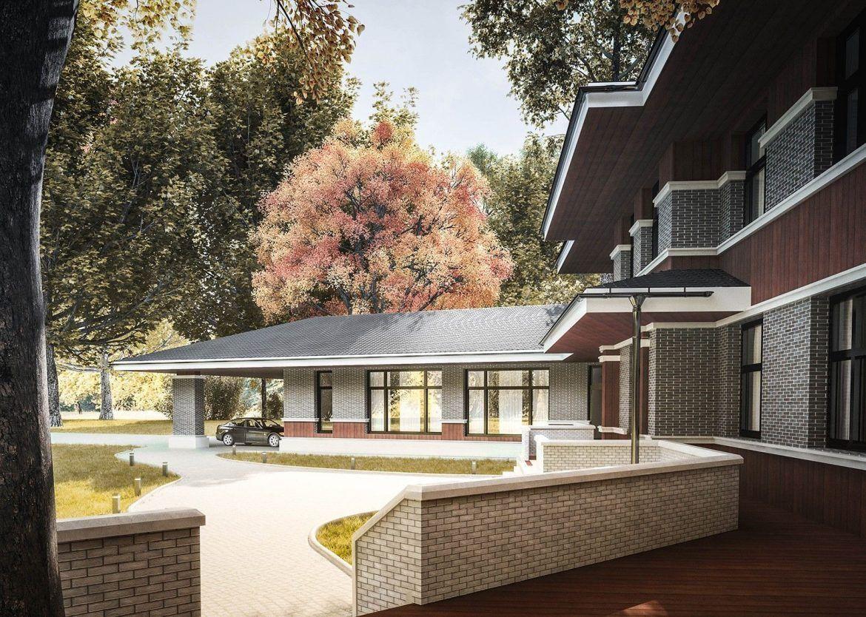 Архитектурный проект дома с террасой: фото