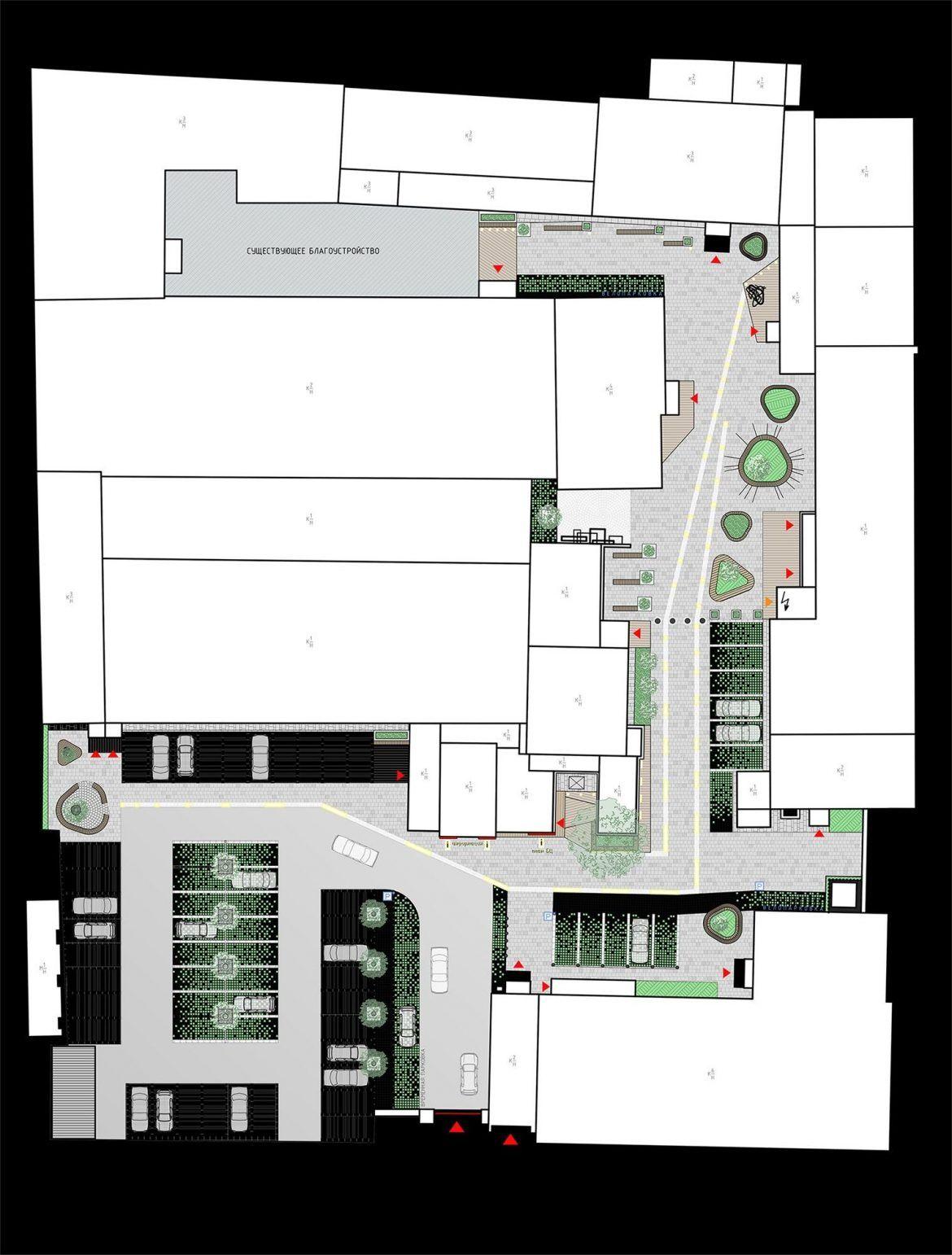 Архитектурный проект благоустройства бизнес-центра
