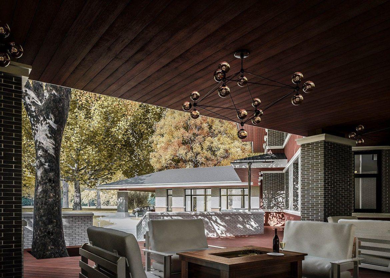 Дом с террасой: фото проекта