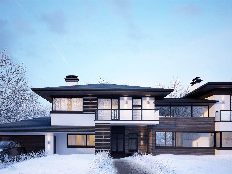 архитектура частных домов фото