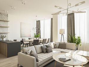 Проект-дизайн интерьера квартиры в современном стиле