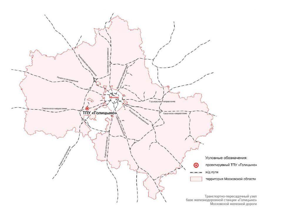 Расположение ТПУ в границах Московской области